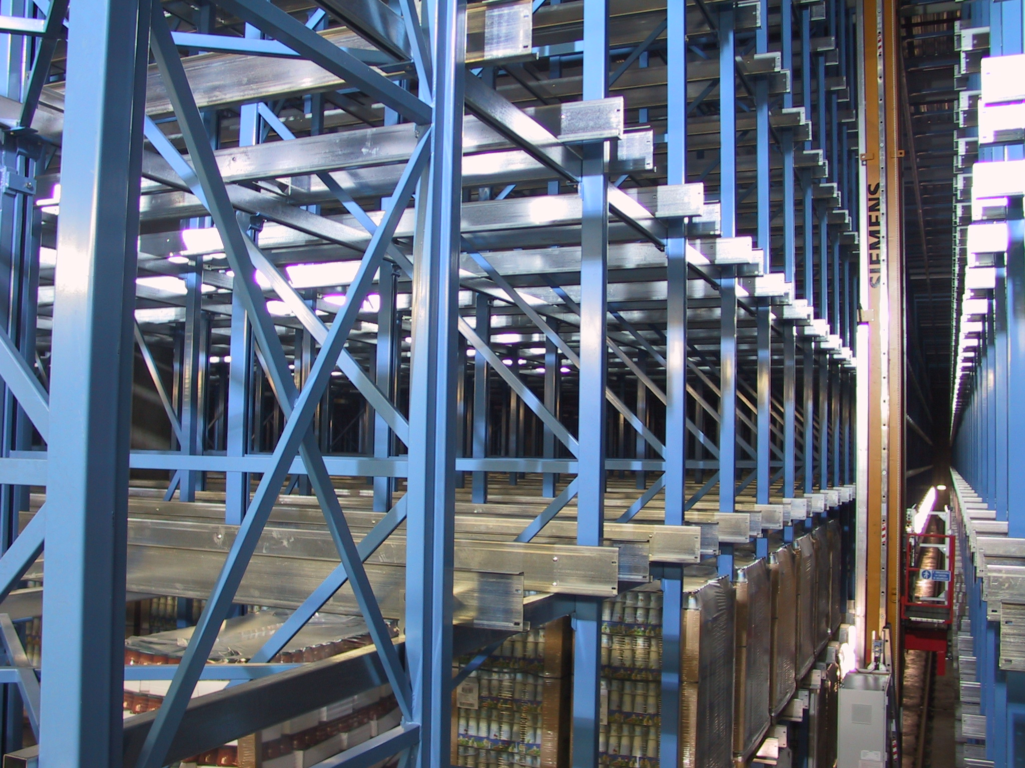 Structures for automated warehouses